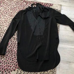 Rag & Bone silk Tuxedo top